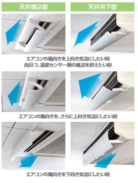 エアコン風の風向きを自由に調整! ウェーブルーバー 1枚羽タイプ GL50 K ブラック