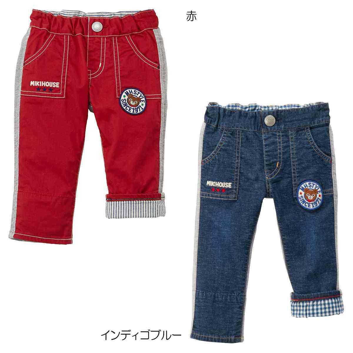 ☆ ミキハウス mikihouse プッチー異素材パンツ(80-90cm)【11-3203-262】 20p11 mkp11