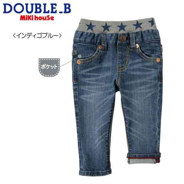 【海外販売専用】☆ダブルビー DOUBLE_B ダブルウエストの定番ジーンズ(70-150cm)60-3238-976