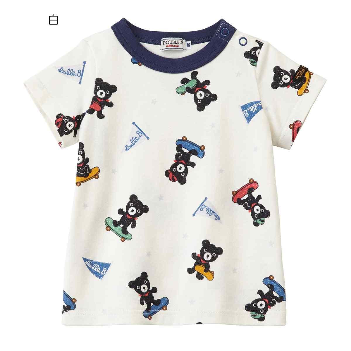 【海外販売専用】☆ ダブルビー ミキハウス DOUBLE_B mikihouse Tシャツ (110cm・120cm・130cm)【62-5201-455】