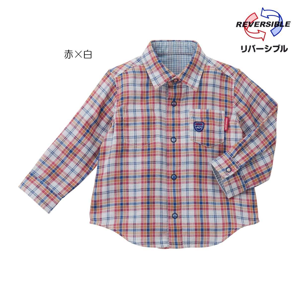 ミキハウス 長袖シャツ シャツ 春 2020(110cm-130cm)mikihouse 【11-5301-827】 20p11 mkp11