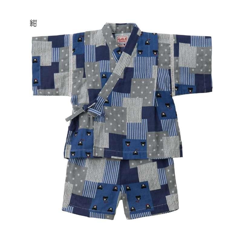 ダブルビー パッチーワーク柄甚平スーツ (80-140cm)【62-7504-822】