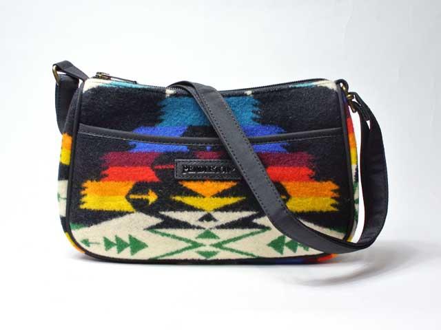 【PENDLETON/ペンドルトン】Tucson Crossbody Bag・ツーソン・クロスボディショルダーバッグ/ブラック (財布・ワレット・ネイティブパターン)
