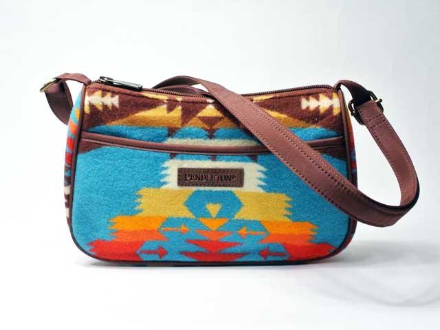 【PENDLETON/ペンドルトン】Tucson Crossbody Bag・ツーソン・クロスボディショルダーバッグ/ターコイズ (財布・ワレット・ネイティブパターン)