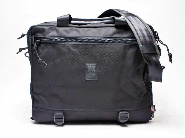 【TOPO DESIGNS/トポデザインズ】3 Day Briefcase Ballistick・バリスティックブリーフケース・22L/ブラック (コロラド発本格アウトドアブランド・メイドインUSA・バリスティック)