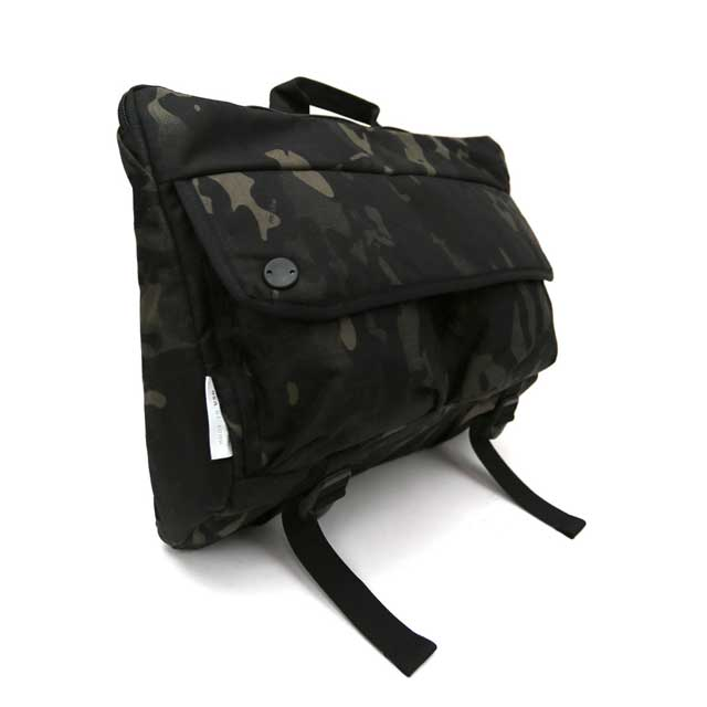 【DSPTCH/ディスピッチ】SHOULDER BAG・ショルダーバッグ・500Dブラックマルチカムコーデュラナイロン・12L/ブラックカモ (サンフランシスコ発・ミルスペック都会派バッグ)