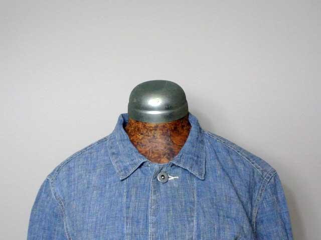 【RRL&CO./ダブルアールエル】Indigo Linen Jacket/1940s・リネンワークジャケット・カバーオール (ヴィンテージ・ミリタリー・ワーク)