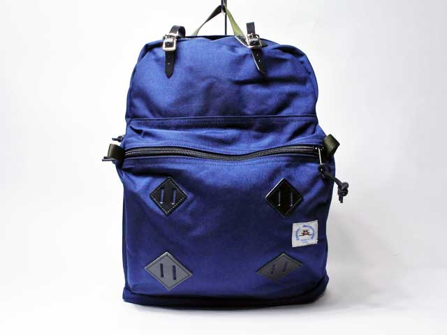 【Epperson Mountaineering/エパーソン・マウンテニアリング】DAY PACK W/ LEATHER PATCHES 23.5L・1000Dコーデュラナイロン・レザーパッチデイパック/ミッドナイト (Made in USA!スペシャルプライス!)