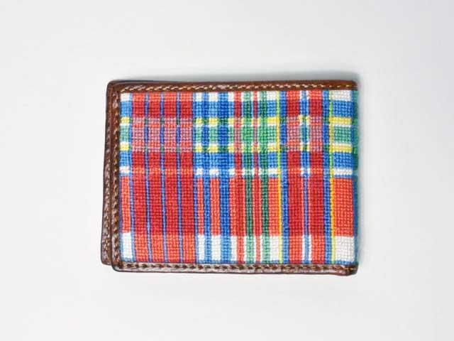 【Brooks Brothers/ブルックスブラザーズ】Red Fleece・レザー×ファブリック・二つ折りウォレット (デッドストック・新品未使用)
