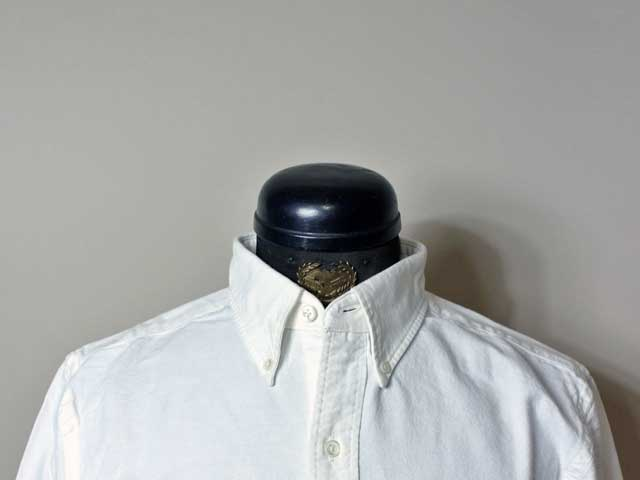 【RRL&CO./ダブルアールエル】2019SS Dead Stock/Selvedge Cotton Oxford Shirt/セルヴィッチ・コットン・オックスフォードシャツ/white (ヴィンテージ・ミリタリー)