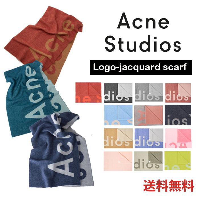 アクネストゥディオズ Acne Studios ロゴジャカードスカーフ マフラー レディース メンズ 274176