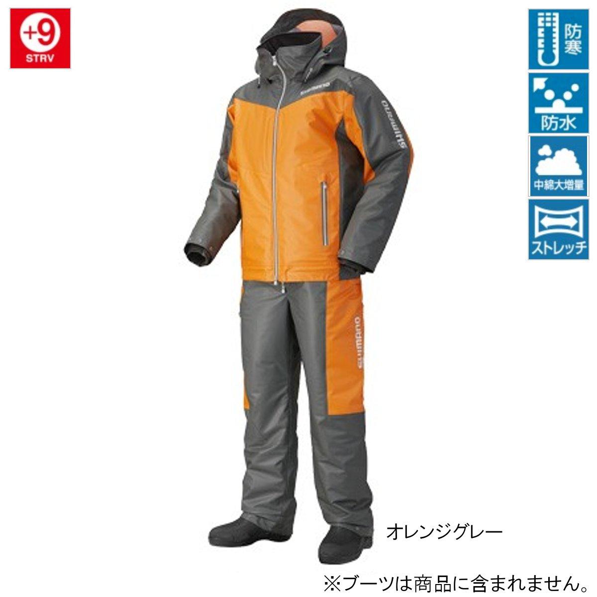 シマノ マリンコールドウェザースーツ EX RB-035N XL オレンジグレー(東日本店)