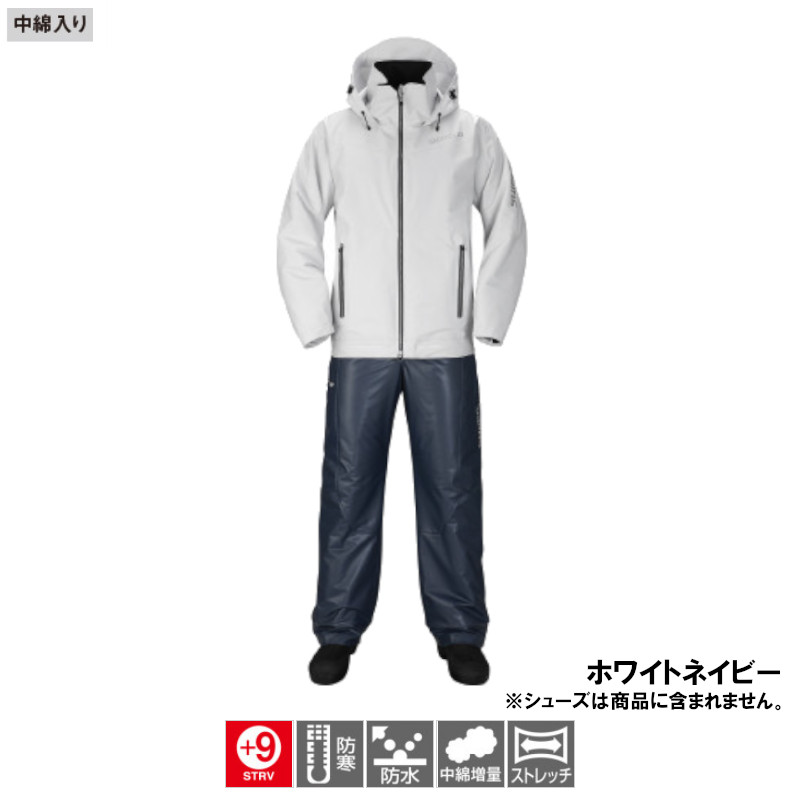 シマノ マリンコールドウェザースーツ EX M ホワイトネイビー [RB-035N](東日本店)