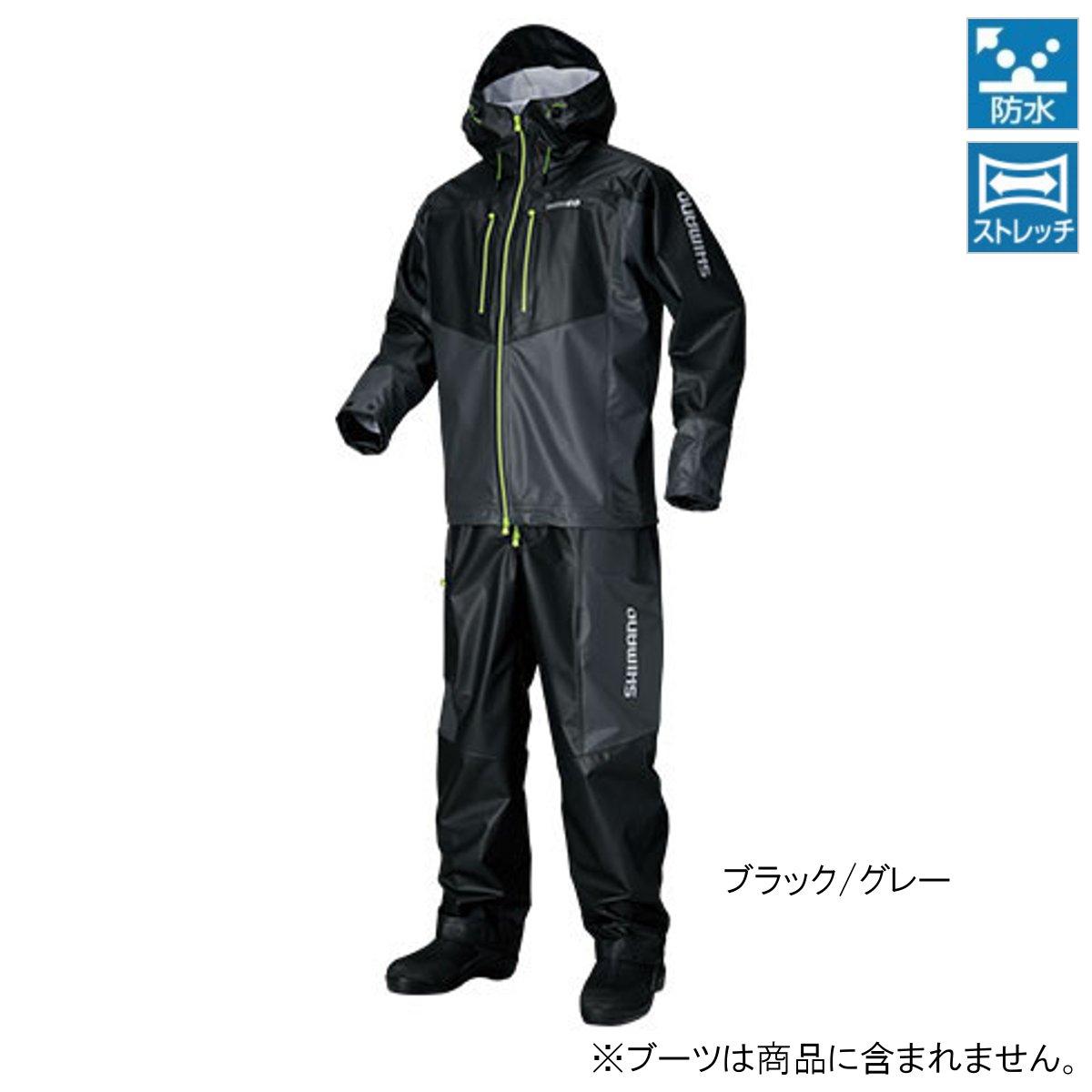 シマノ マリンライトスーツ RA-034N XL ブラック/グレー(東日本店)
