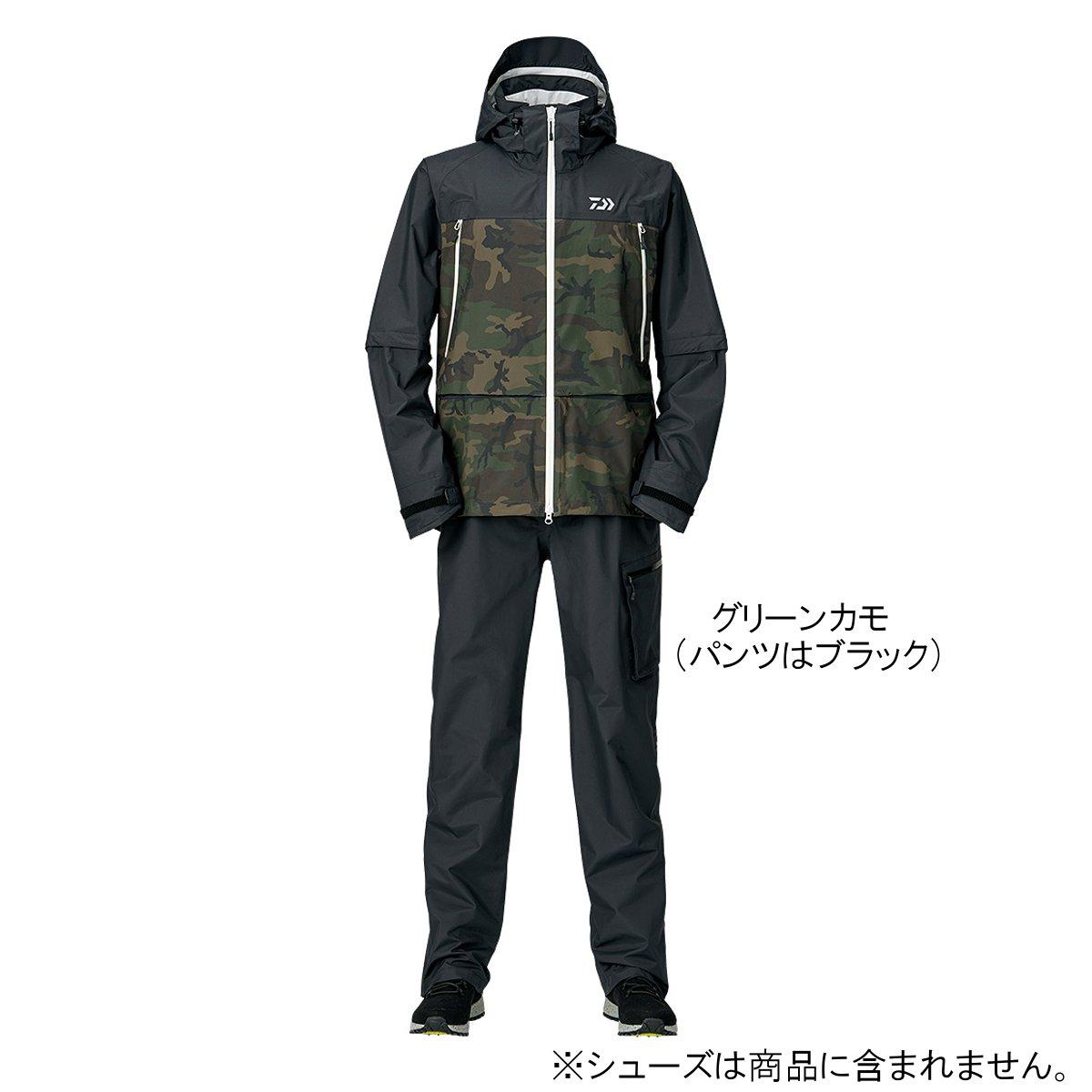 ダイワ レインマックス デタッチャブルレインスーツ DR-30009 2XL グリーンカモ(東日本店)