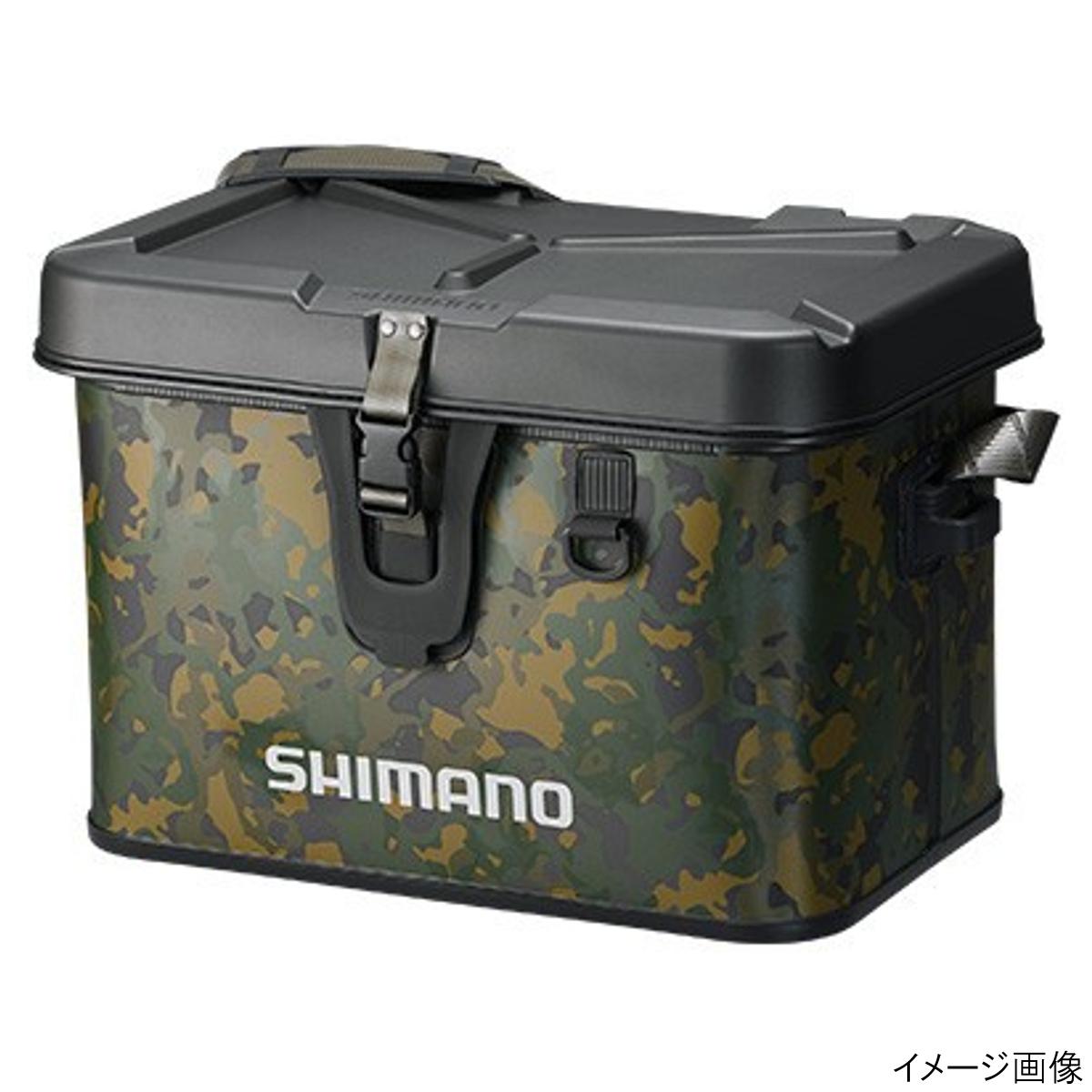 【4/1 24時間限定!エントリーで最大P31倍】シマノ タックルボートバッグ(ハードタイプ) BK-001Q 32L ベージュウィードカモ(東日本店)