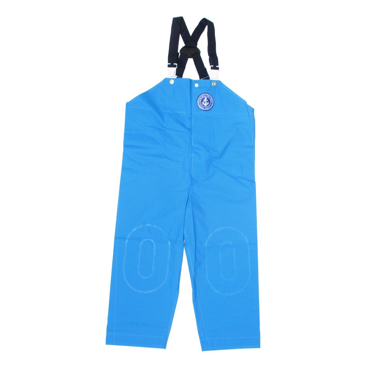 クラフテル フィッシャーマンレインウェアー 胸付ズボン(前開き型) 3L ブルー(東日本店)