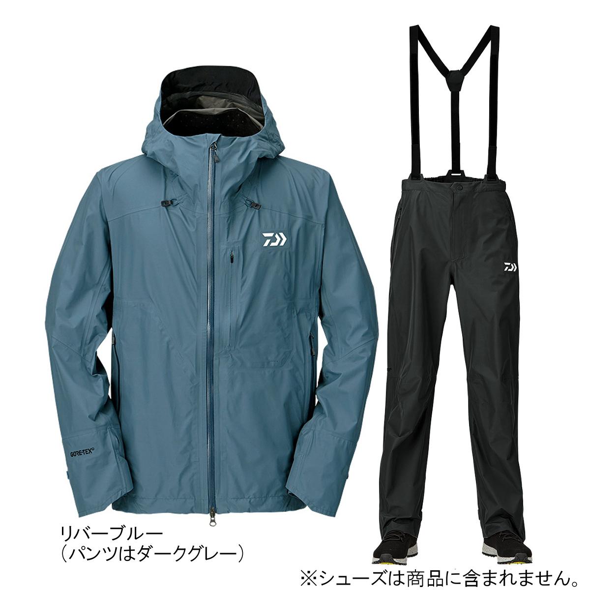ダイワ ゴアテックス パックライトプラス レインスーツ DR-16009 M リバーブルー(東日本店)