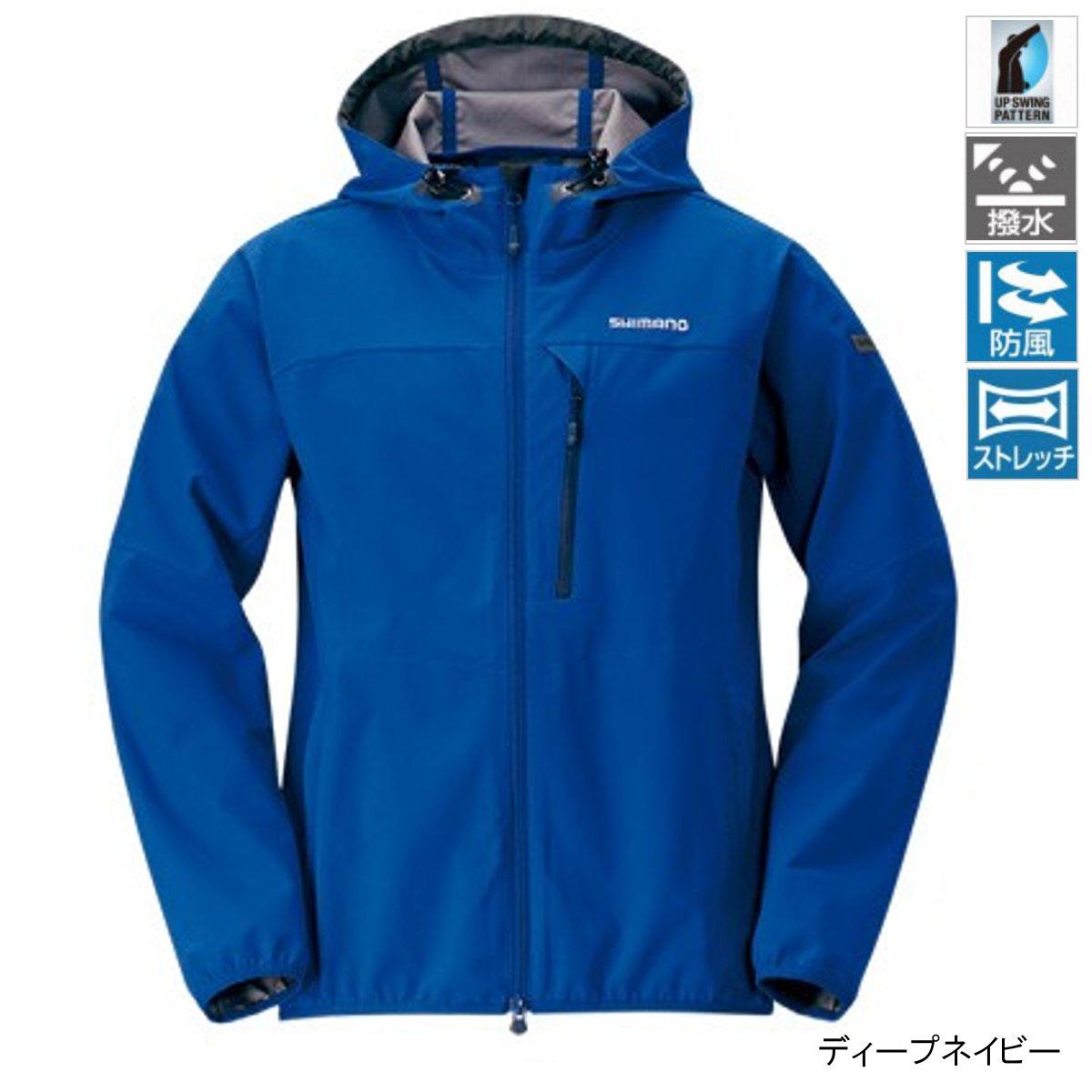 シマノ ストレッチ 3レイヤーフーディ ジャケット JA-040Q L ディープネイビー(東日本店)
