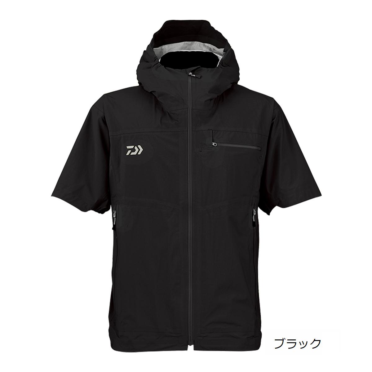 ダイワ レインマックス ポケッタブル ショートスリーブ レインジャケット DR-2308J XL ブラック(東日本店)