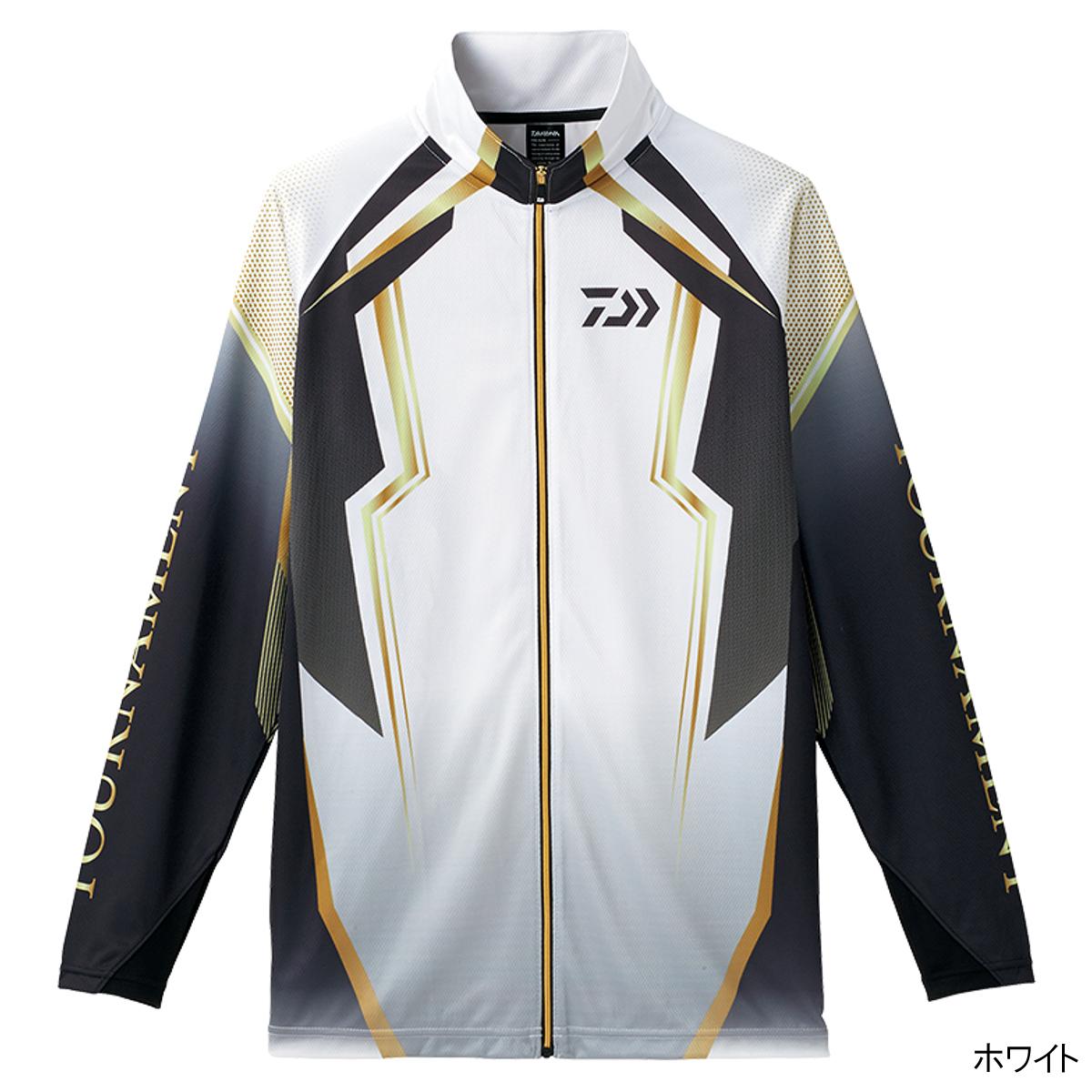 ダイワ トーナメント ドライフルジップ メッシュシャツ DE-73008 L ホワイト(東日本店)