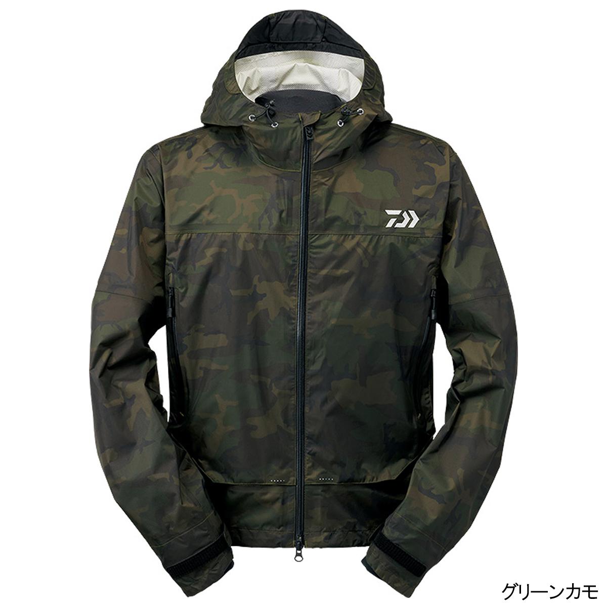 ダイワ レインマックス ショートレインジャケット DR-39009J L グリーンカモ(東日本店)