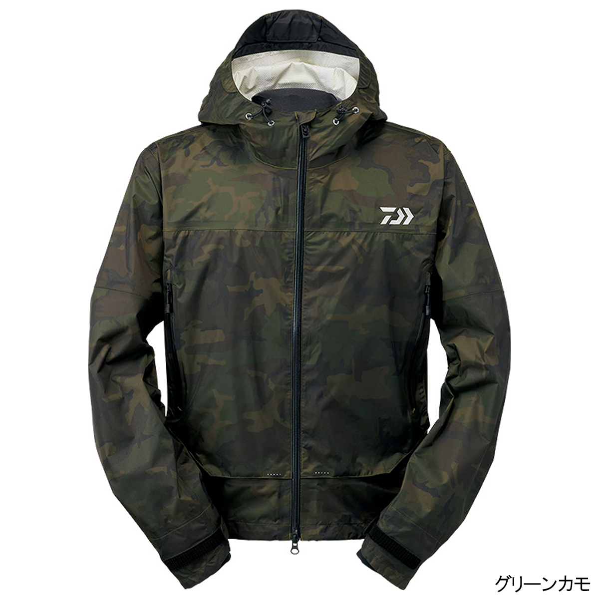 ダイワ レインマックス ショートレインジャケット DR-39009J XL グリーンカモ(東日本店)