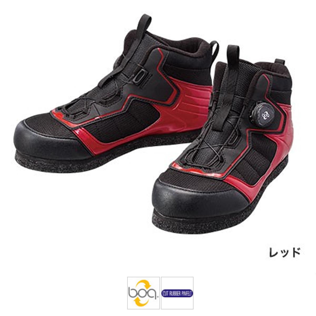 シマノ カットラバーピンフェルトフィットシューズ LT FS-041Q 26cm レッド(東日本店)