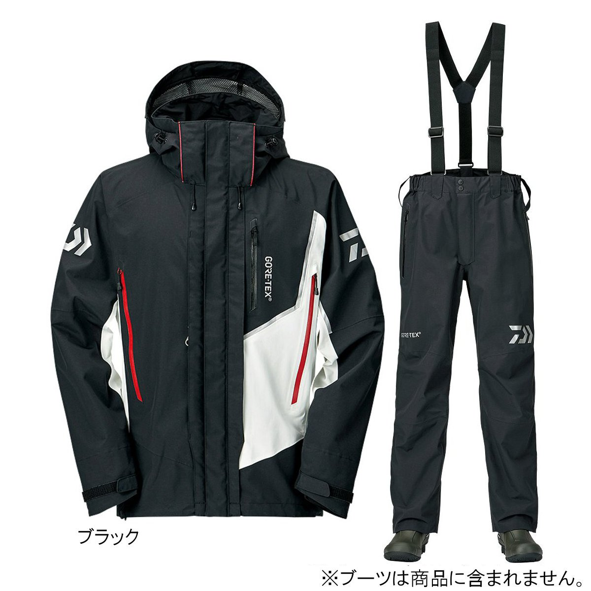 ダイワ ゴアテックス プロダクト コンビアップレインスーツ DR-18009 2XL ブラック(東日本店)