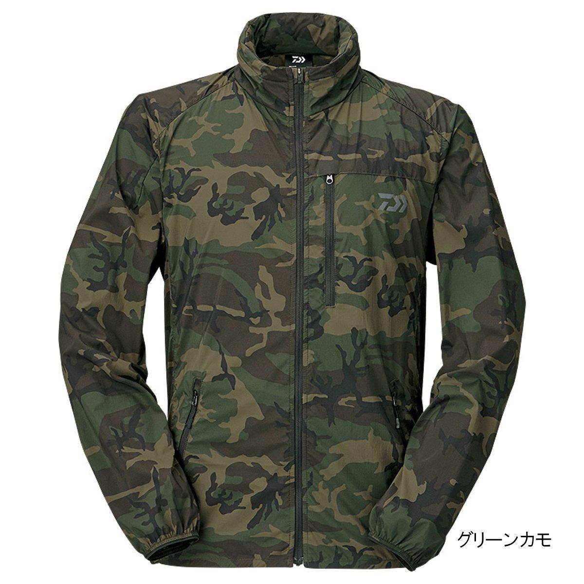 ダイワ ポケッタブルウィンドジャケット DJ-33009 2XL グリーンカモ(東日本店)