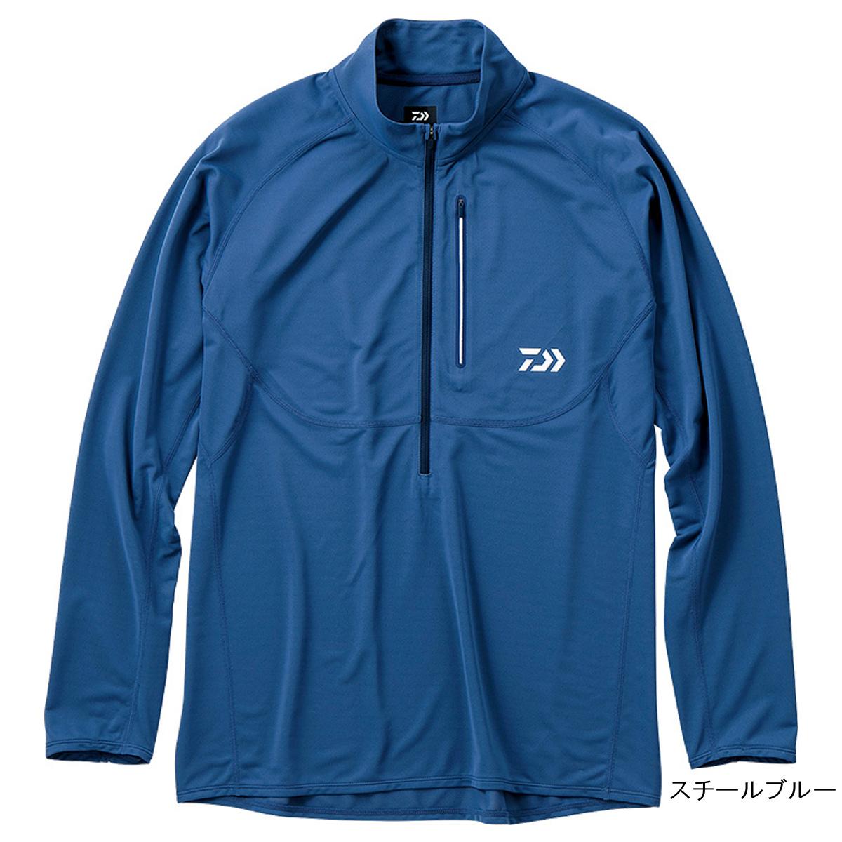 ダイワ アクティブジップアップシャツ DE-35009 XL スチールブルー(東日本店)
