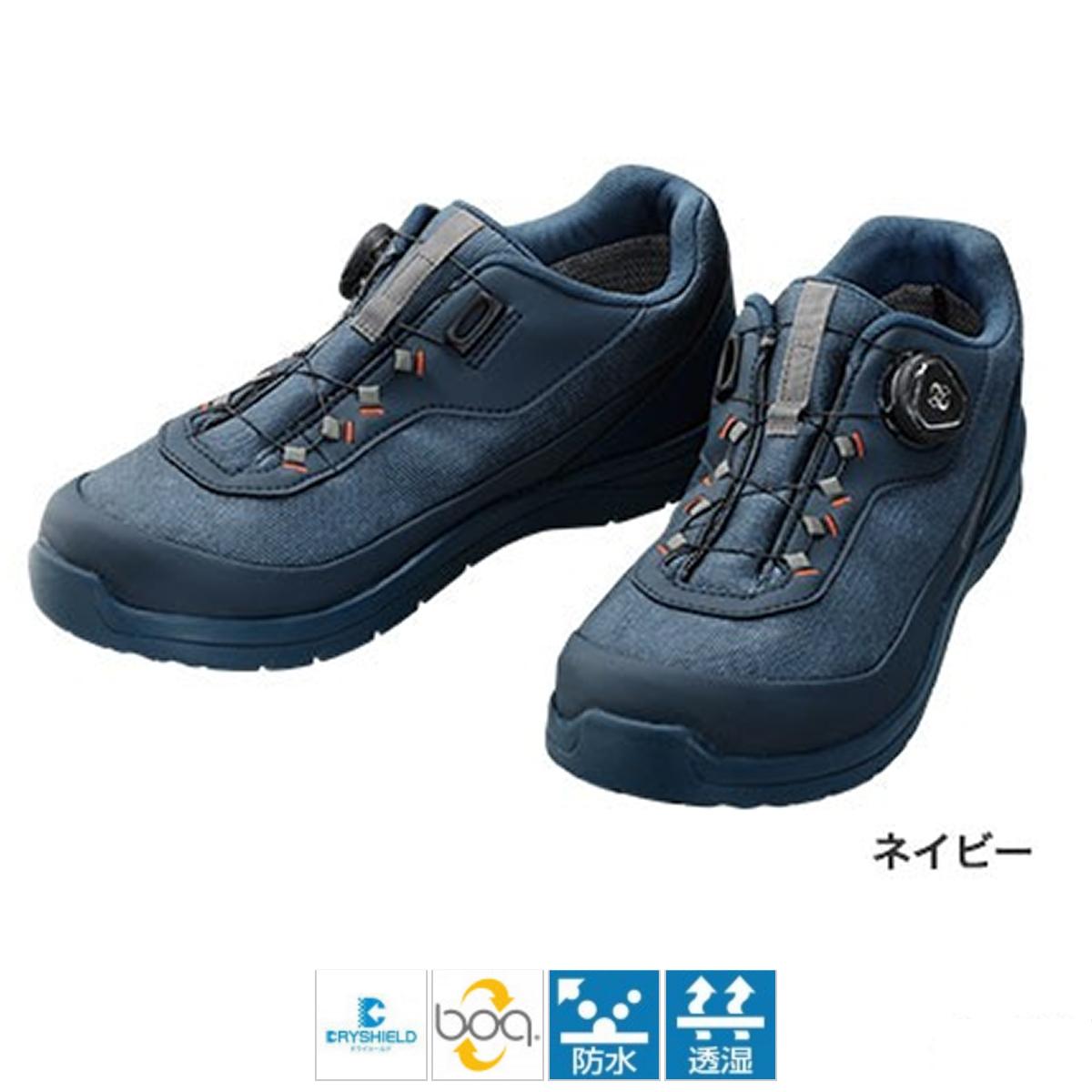 シマノ ドライシールド デッキラジアルフィットシューズ LW FS-081Q 26cm ネイビー(東日本店)
