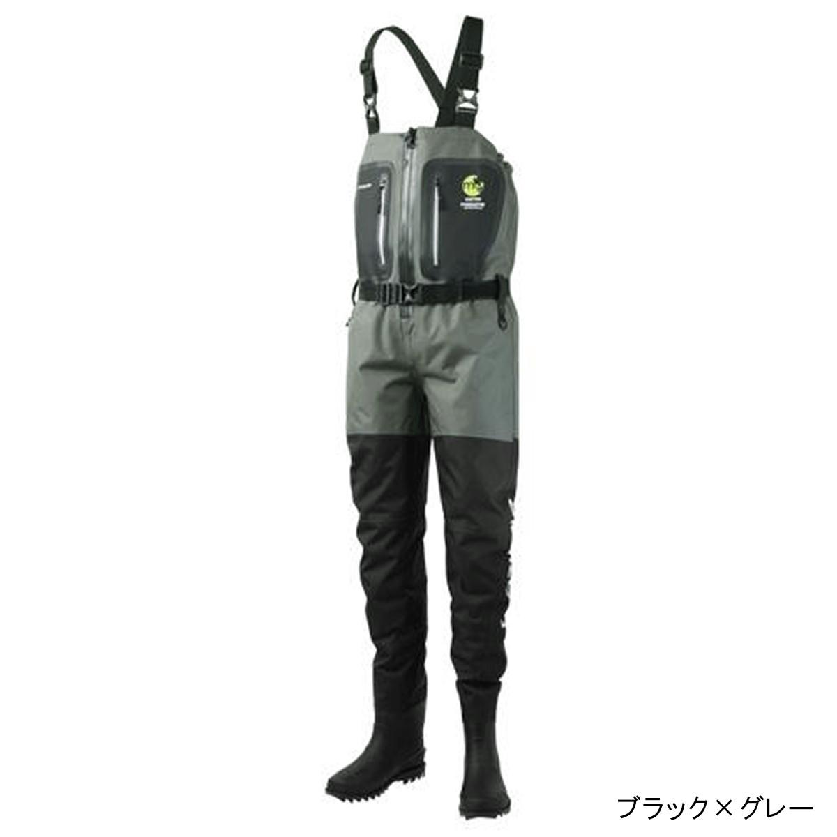 マズメ フルオープンサーフウェイダー MZBF-314 LL ブラック×グレー(東日本店)