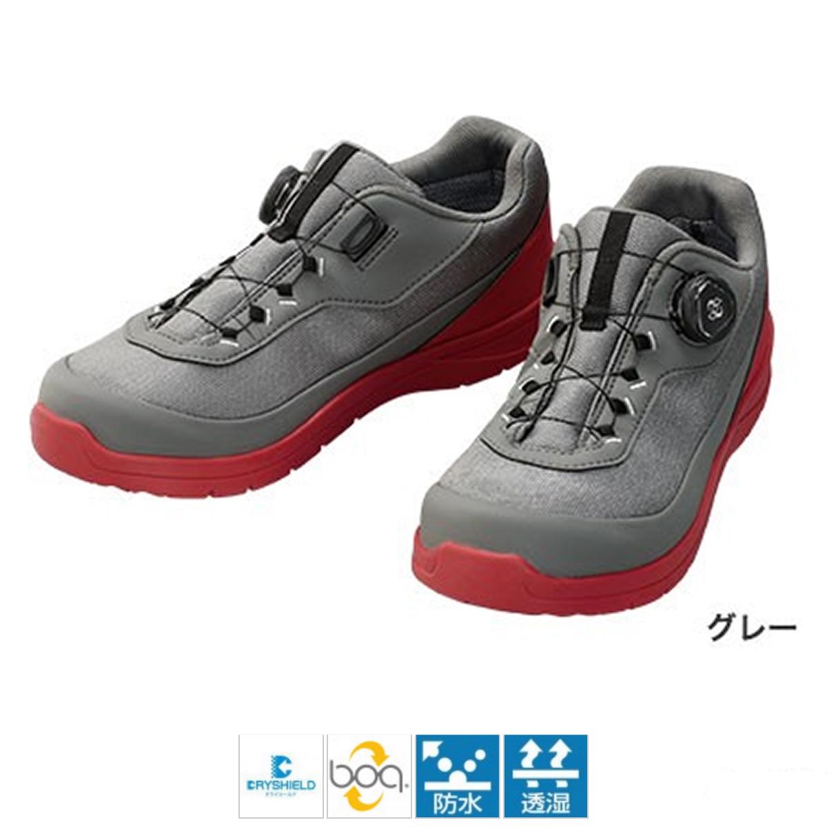 シマノ ドライシールド デッキラジアルフィットシューズ LW FS-081Q 25cm グレー(東日本店)