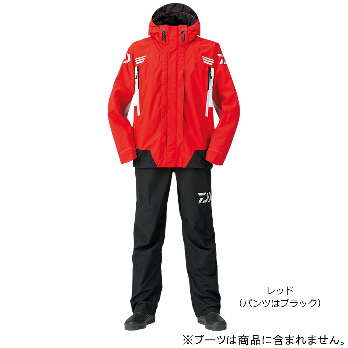 ダイワ レインマックス ハイパー コンビアップレインスーツ DR-3108 XL レッド(東日本店)
