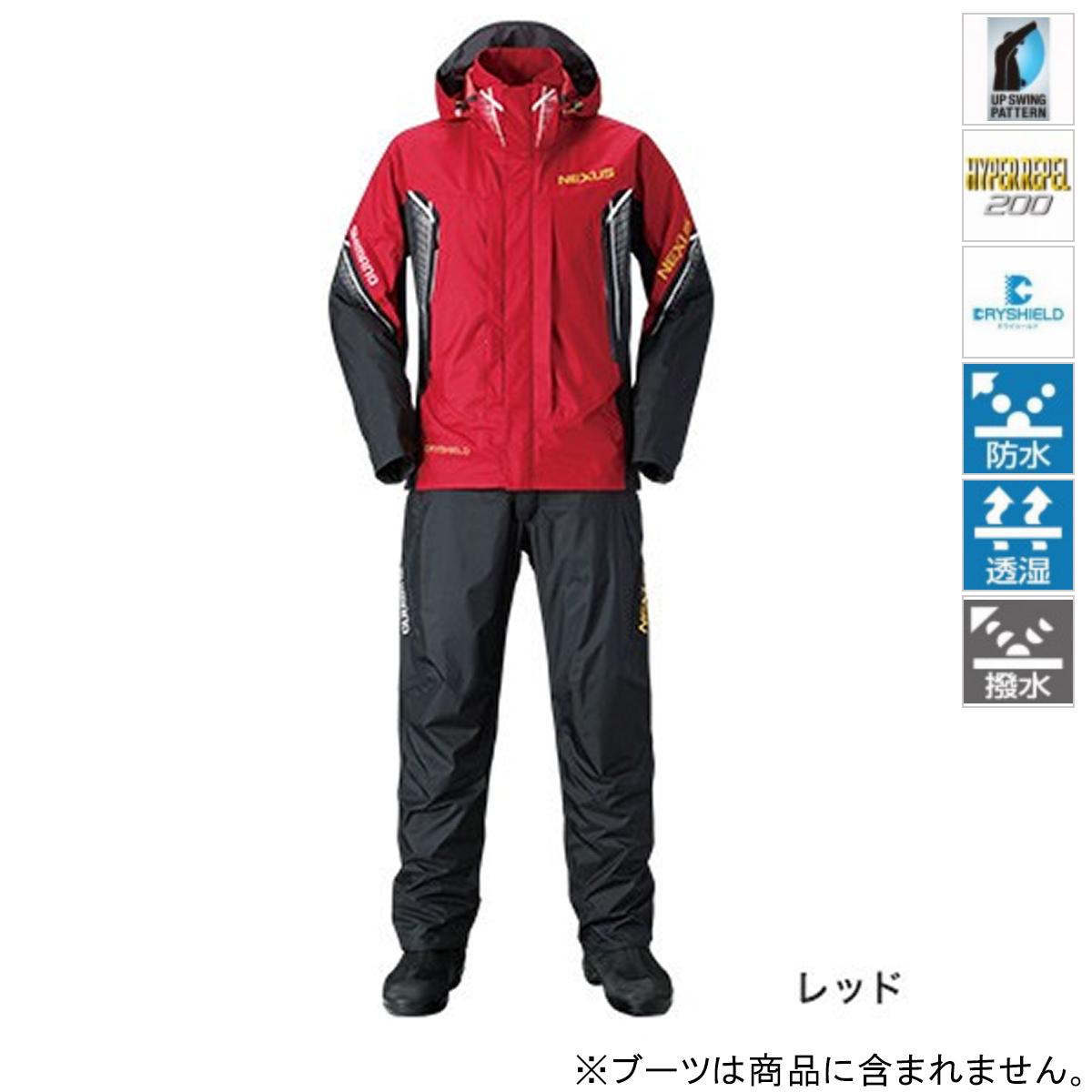シマノ NEXUS DS レインスーツ XT RA-118R 2XL レッド(東日本店)