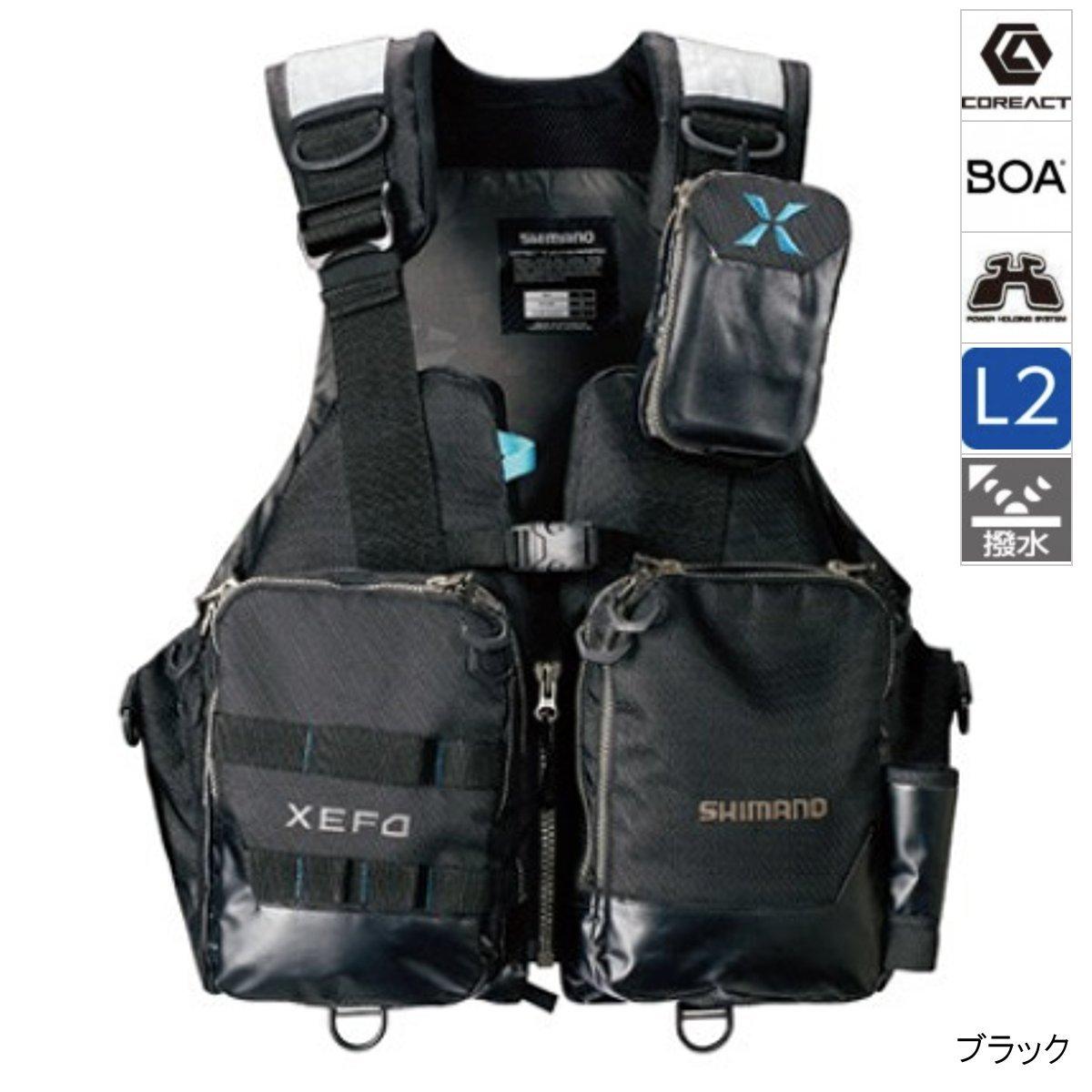 【4/1 24時間限定!エントリーで最大P31倍】シマノ XEFO・アクトゲームベスト VF-274R XL ブラック(東日本店)