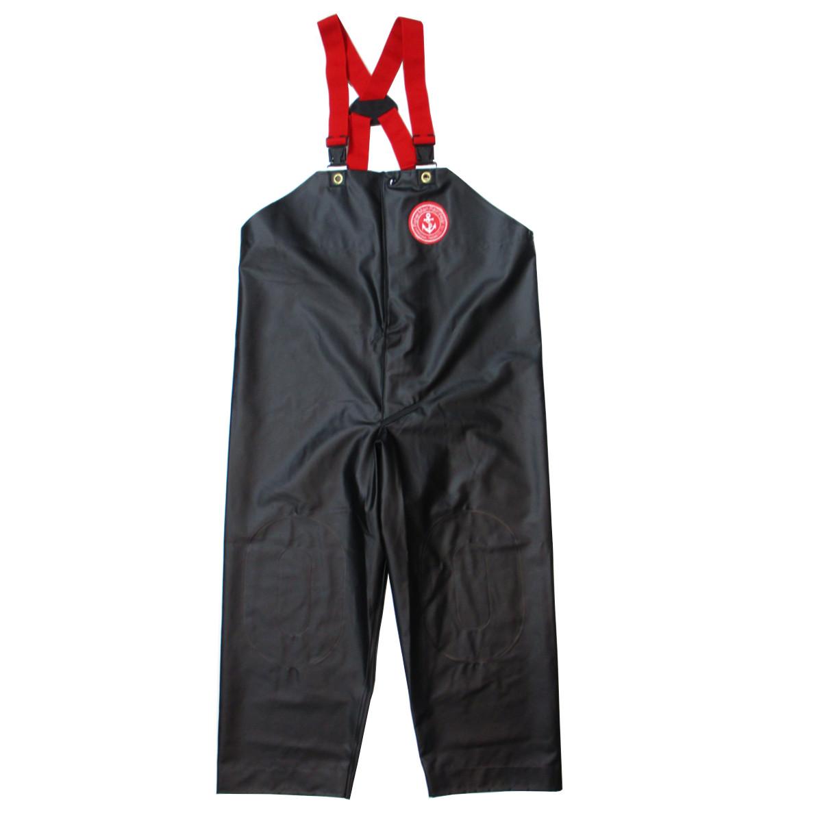 クラフテルレインウェアー 胸付ズボン(前開き) 3L ブラック(東日本店)