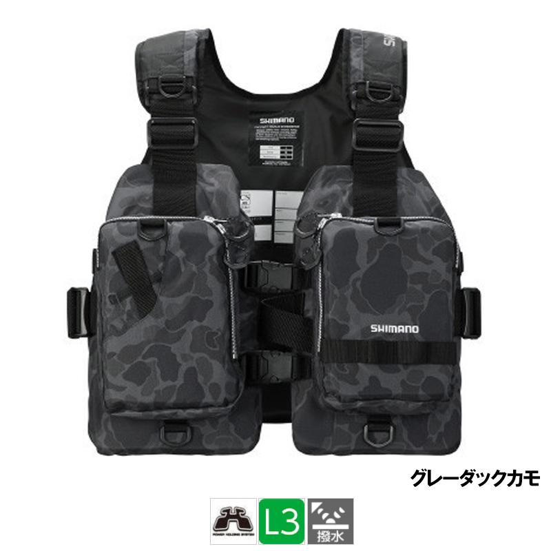 シマノ ゲームベストライト フリー グレーダックカモ [VF-068T](東日本店)