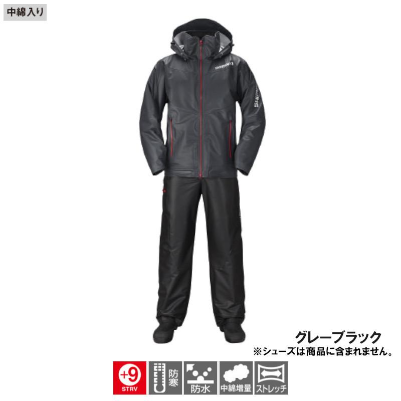 シマノ マリンコールドウェザースーツ EX XL グレーブラック [RB-035N](東日本店)