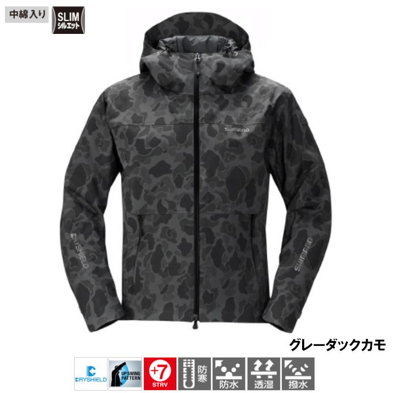 シマノ DSエクスプローラー ウォームジャケット L グレーダックカモ [RB-04JS](東日本店)