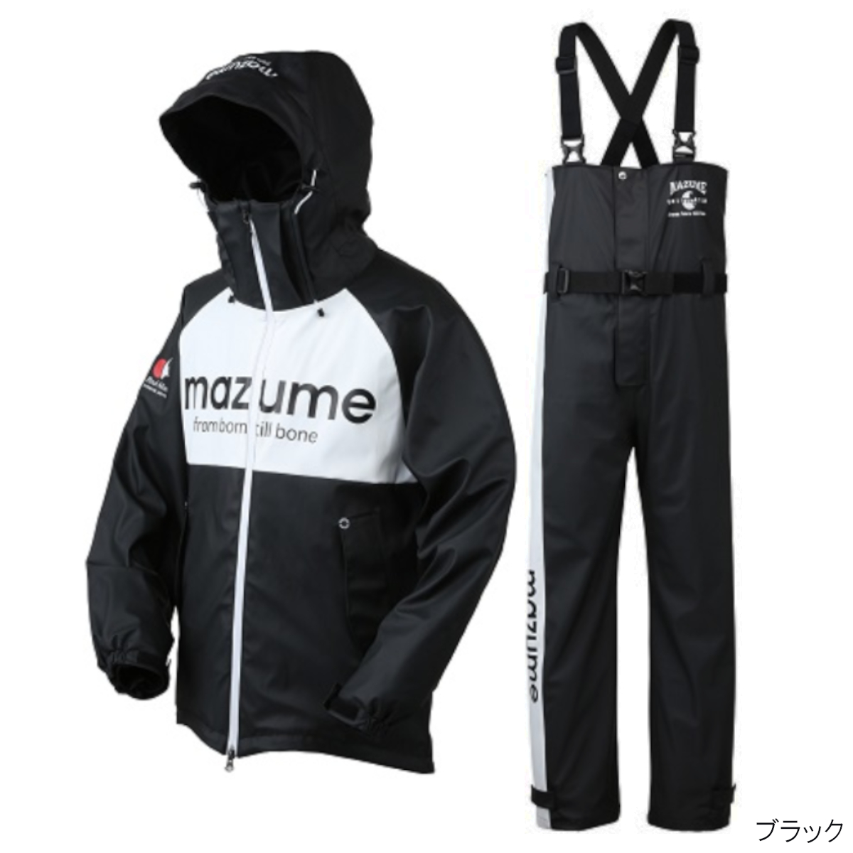 オレンジブルー mazume ラフウォーターレインスーツ III MZRS-434 LL ブラック(東日本店)