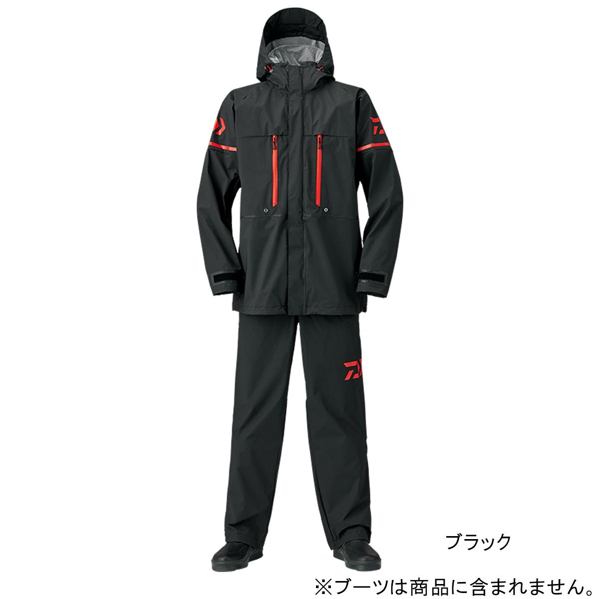 ダイワ PVCオーシャンサロペットレインスーツ DR-9008 M ブラック(東日本店)