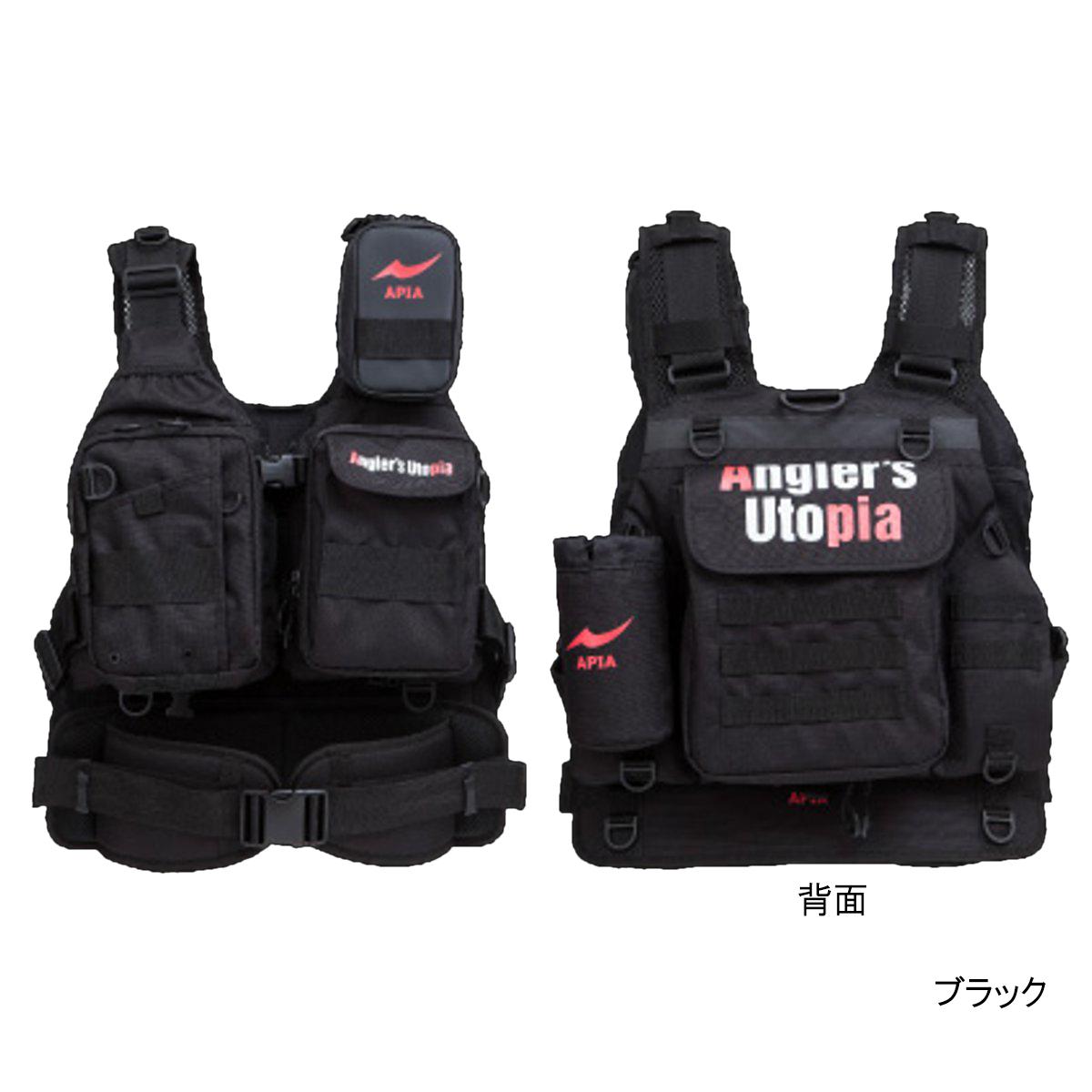 アングラーズサポートベスト VER.3 フリー ブラック(東日本店)