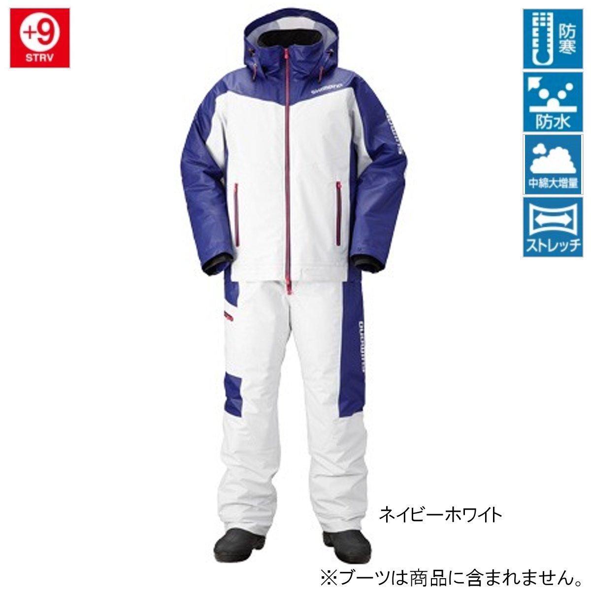 シマノ マリンコールドウェザースーツ EX RB-035N 2XL ネイビーホワイト(東日本店)