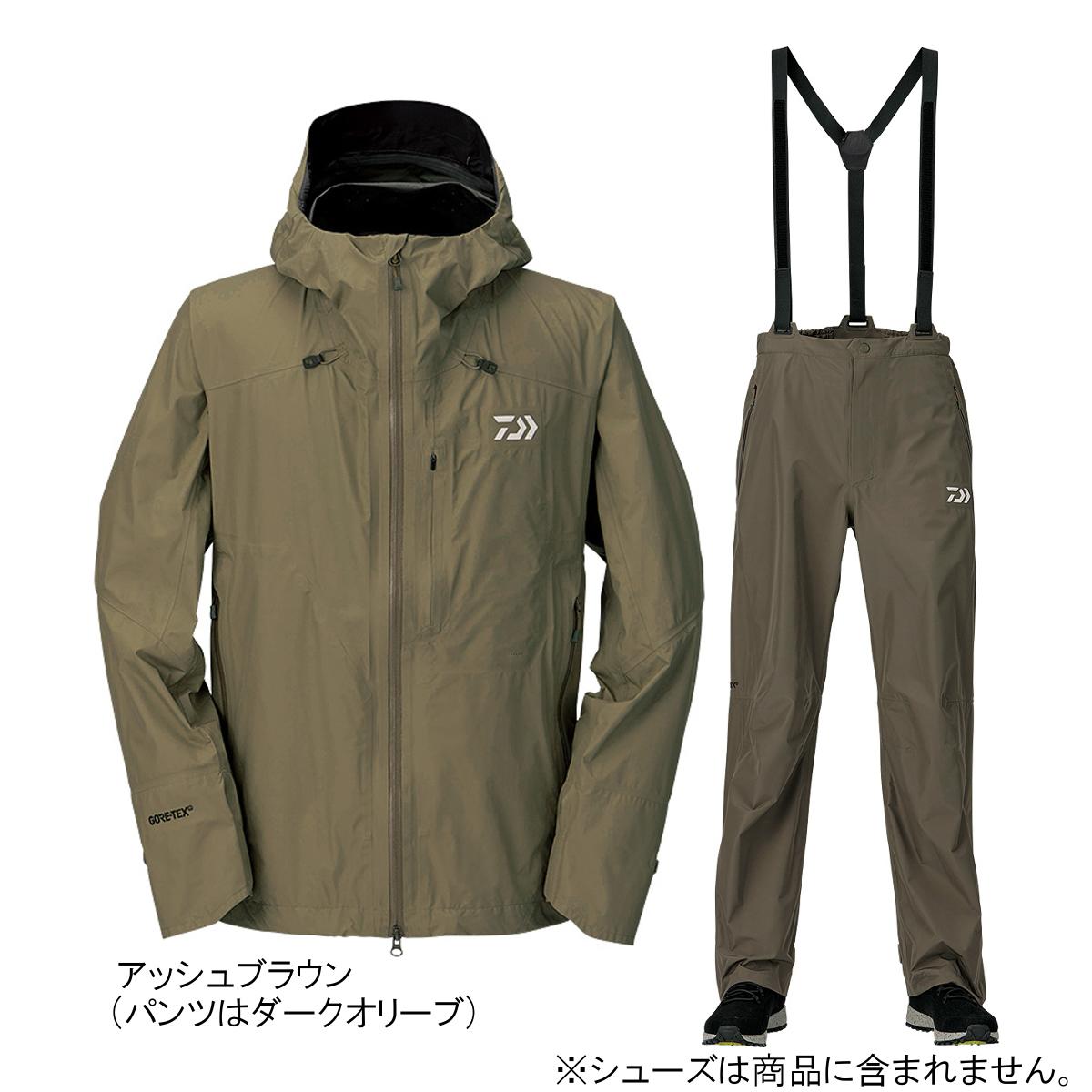ダイワ ゴアテックス パックライトプラス レインスーツ DR-16009 M アッシュブラウン(東日本店)