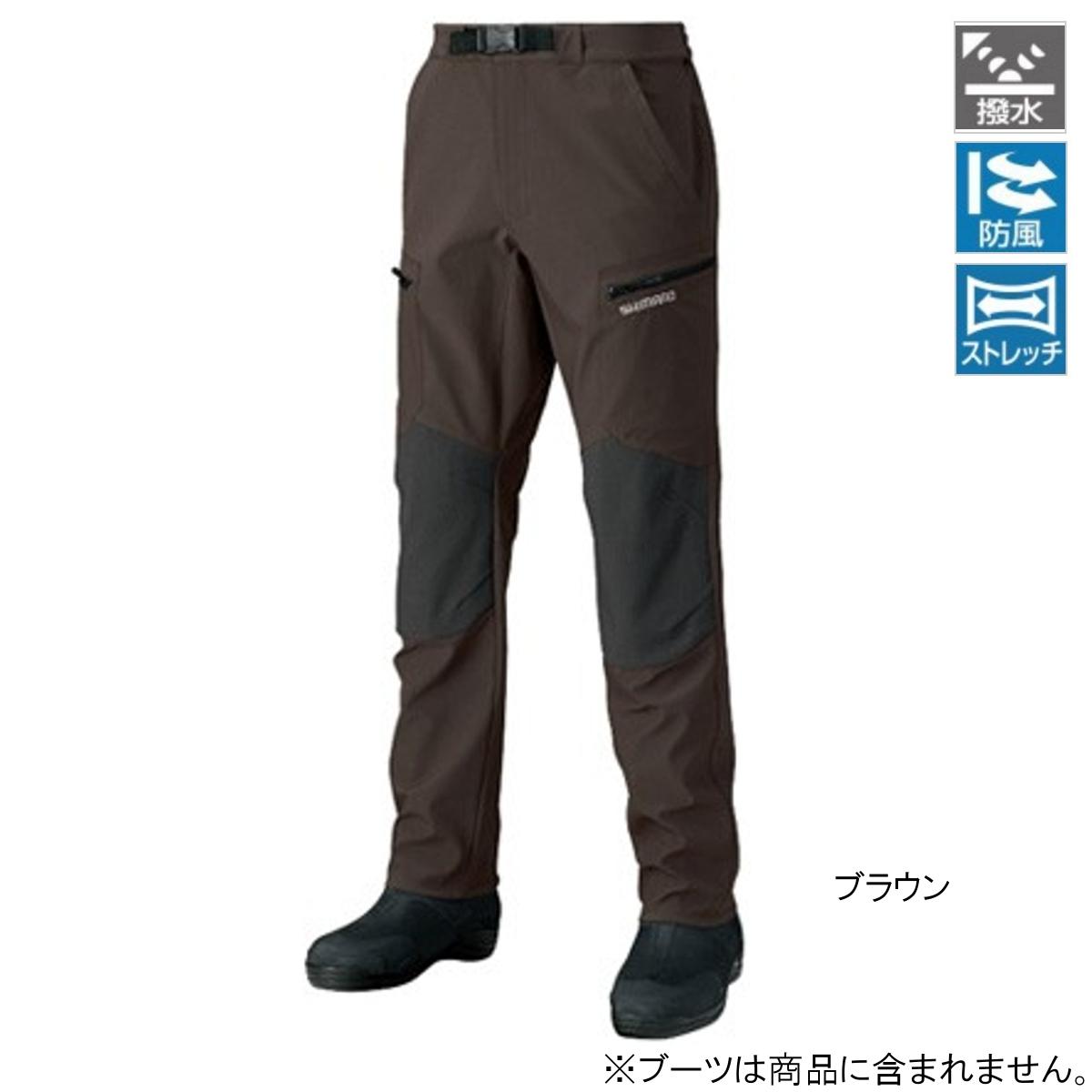 シマノ 防風ストレッチパンツ PA-045Q M ブラウン