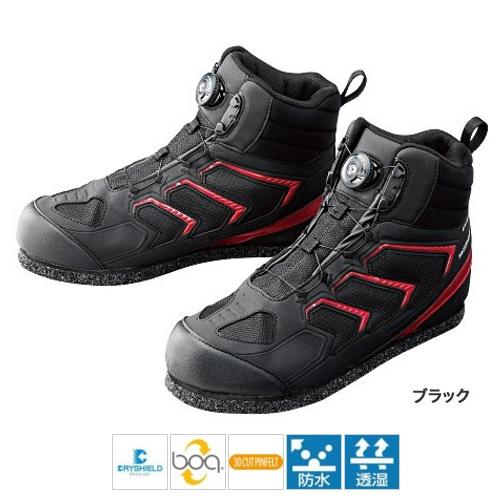 シマノ ドライシールド・3Dカットピンフェルトシューズ(ハイカット) FS-085P 28.0cm ブラック