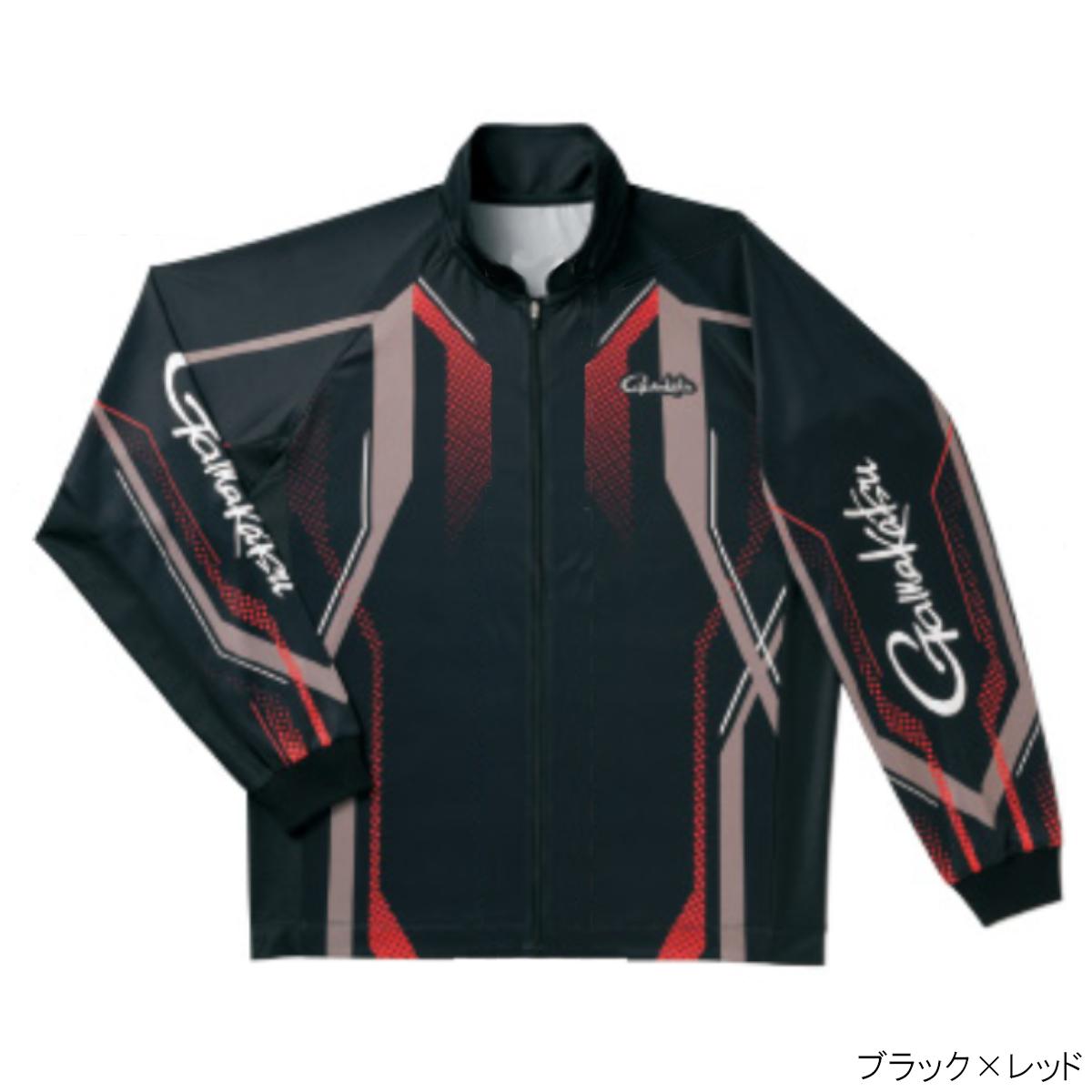 フルジップトーナメントシャツ GM-3569 M ブラック×レッド