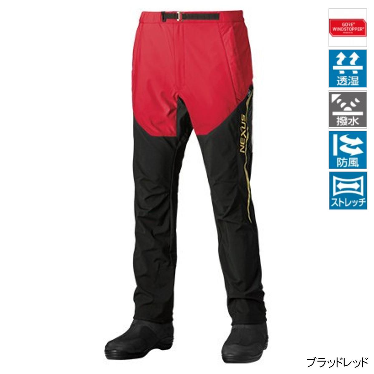 シマノ NEXUS・GORE WINDSTOPPER パンツ LIMITED PRO PA-131R 2XL ブラッドレッド